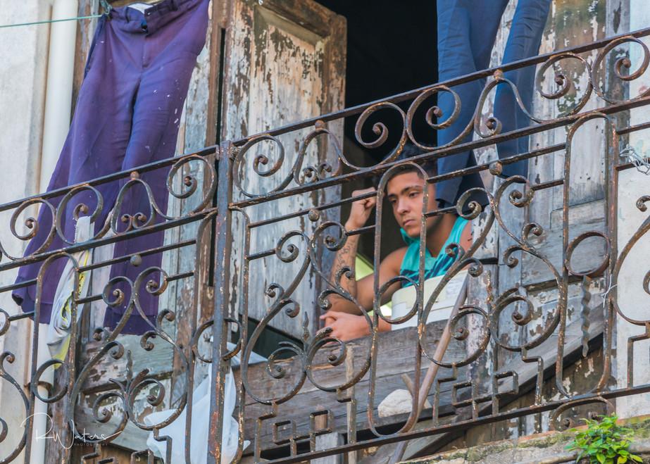 Alone on a Balcony