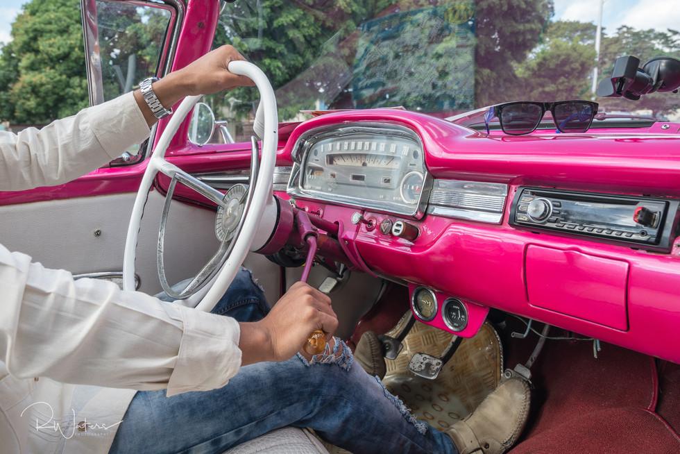 Riding a Pink Convertible