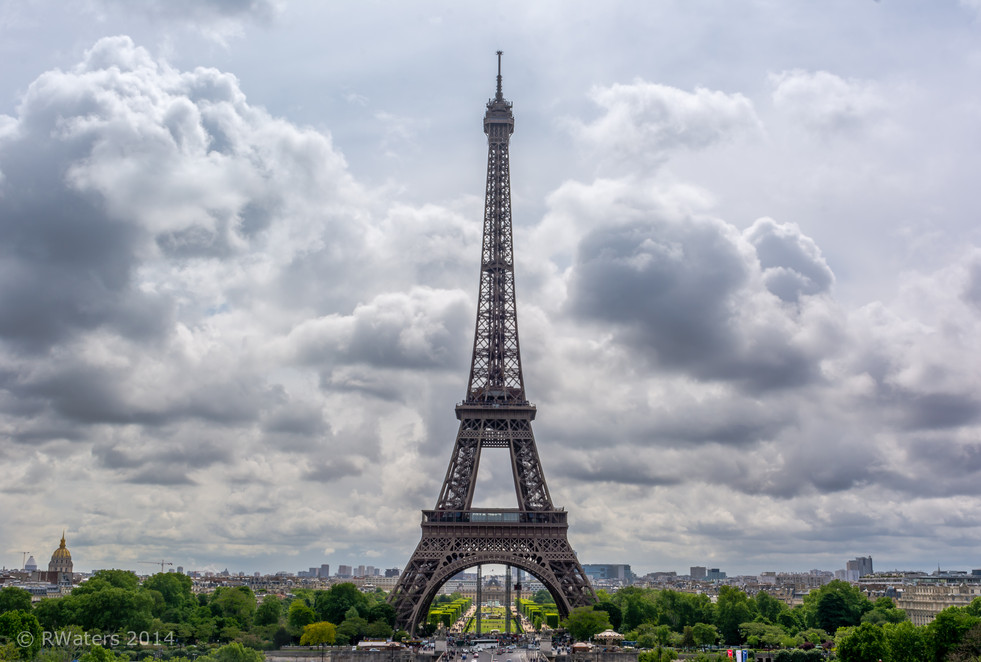 Morning View Eiffel Tower