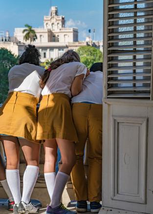 Schoolgirls on a Balcony