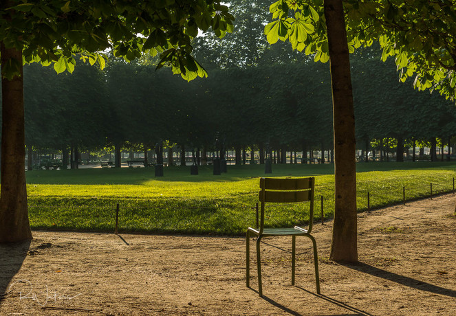 Lone Chair In Paris