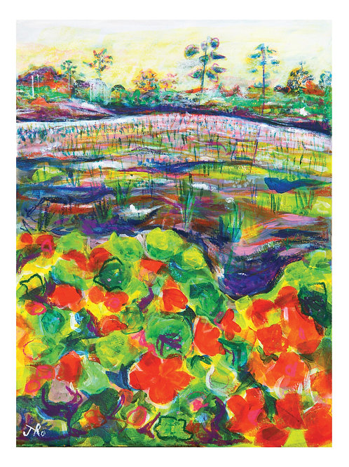 A4 Fine Art, Giclée Print, From My Original Painting, 'Summer Farm'