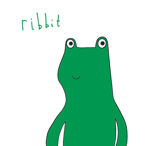 Ribbit ! Card Green Frog