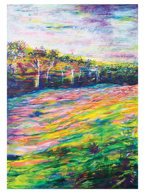 A3 Fine Art, Giclée Print, From My Original, Painting, 'Walk Through Deer Leap.'