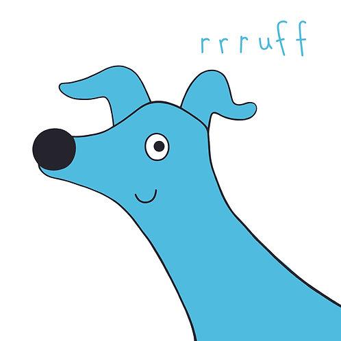 'Rrruff! Blue Dog Card