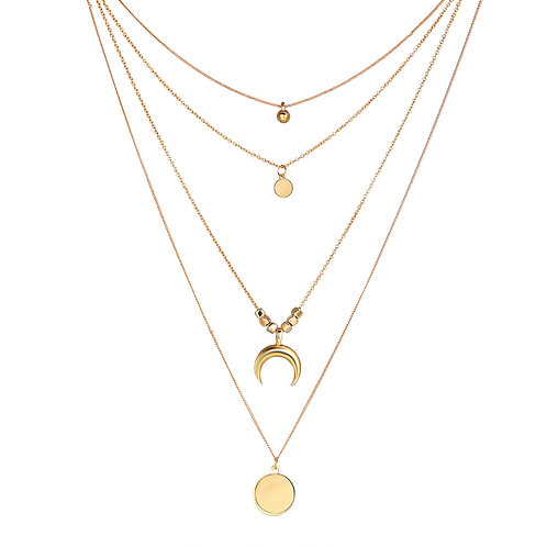 Gold Plated Layered Chain Costume Jewelry for Women