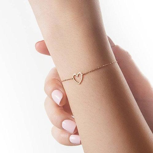 Hollow Heart Women  Simple Bracelets