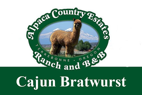 Cajun Blue Cheese Bratwurst
