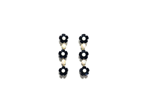 Flofa mini with round pearl in Black & White