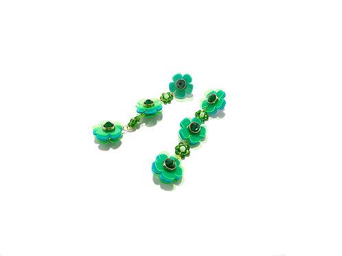 Beadi flofa mini earring in green