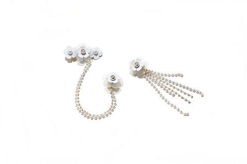 Fava hair clip with earring Set