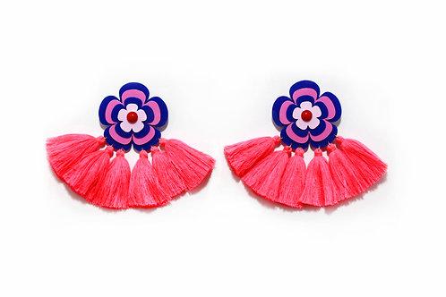 Sofie earring in Navy X Pink