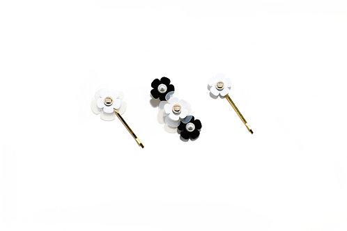 Feva hair clip in Black & White (3pc)