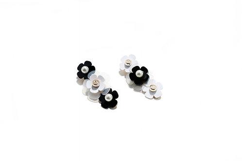 Feva hair clip in Black & White (2pc)