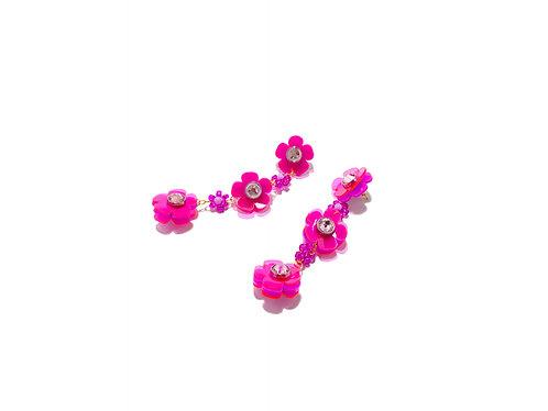 Beadi flofa mini earring in purple