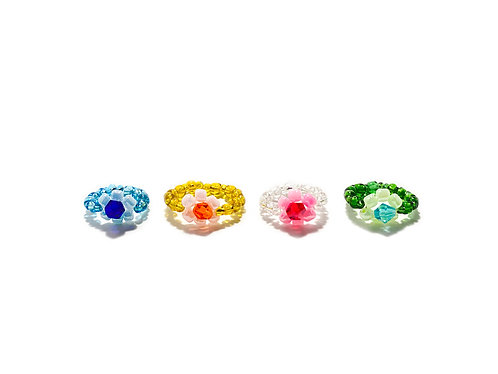 Beadin' fava rings set - 4pc