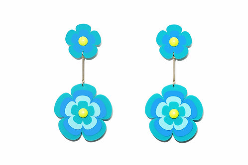 Fava earring in turquoise