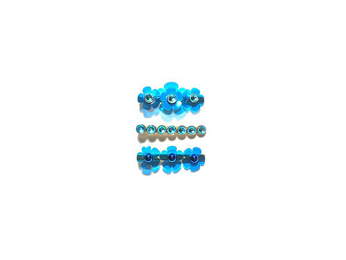 Gummy fava hairclip set (3pc) - Light Blue