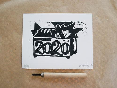 untitled (2020 burning dumpster)