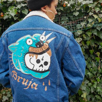 Handpainted Denim Jacket Design