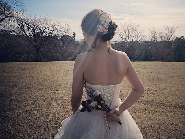 Behind the scene - Carine wiith wedding