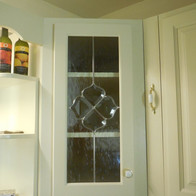 New Corner Wall Cabinet Stained Glass -