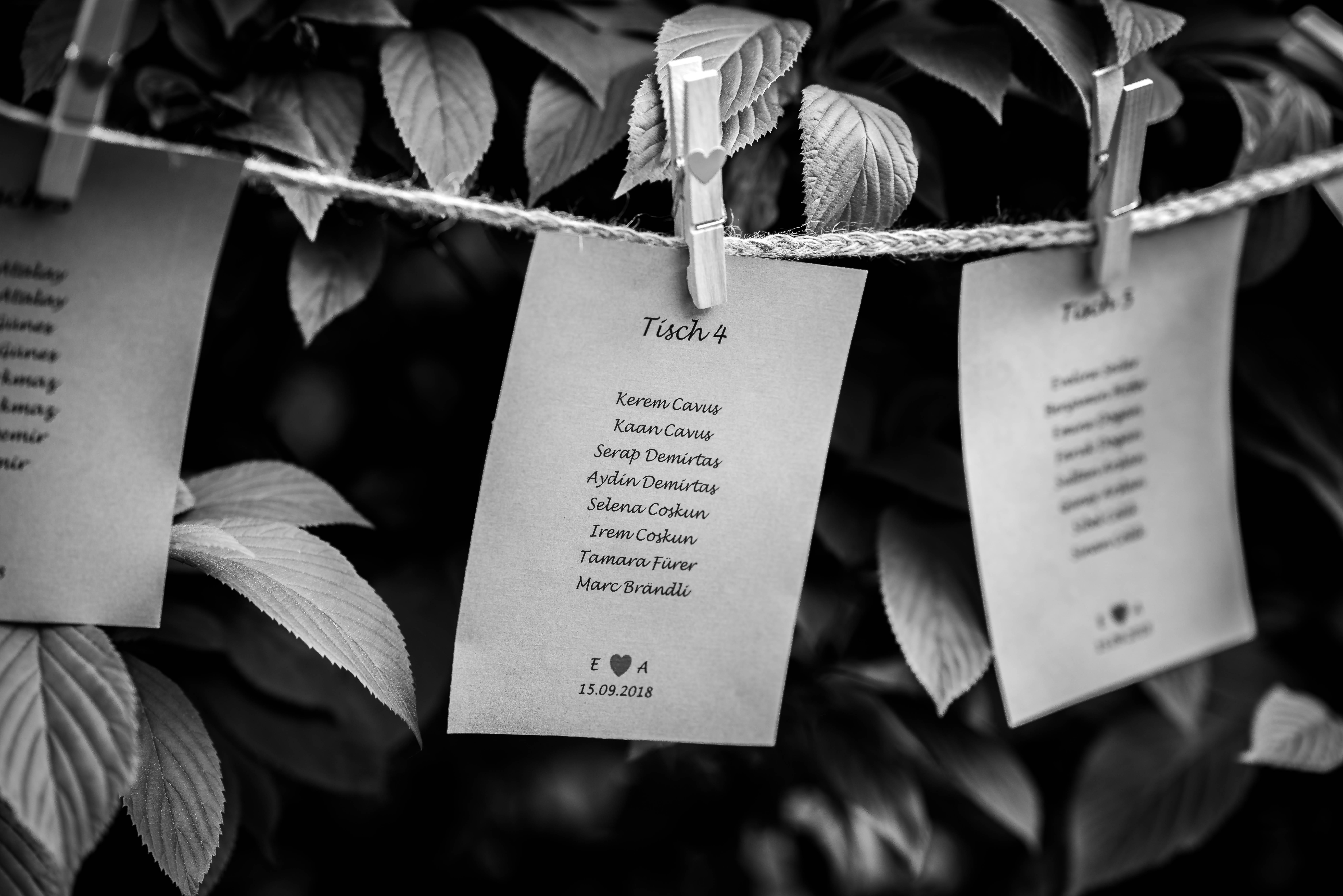 Sitzordnung Shirin Wedding & Event
