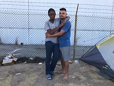 Homeless couple looking for a home