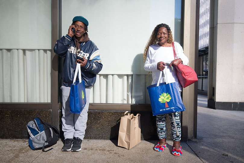 homeless street outreach with care packages