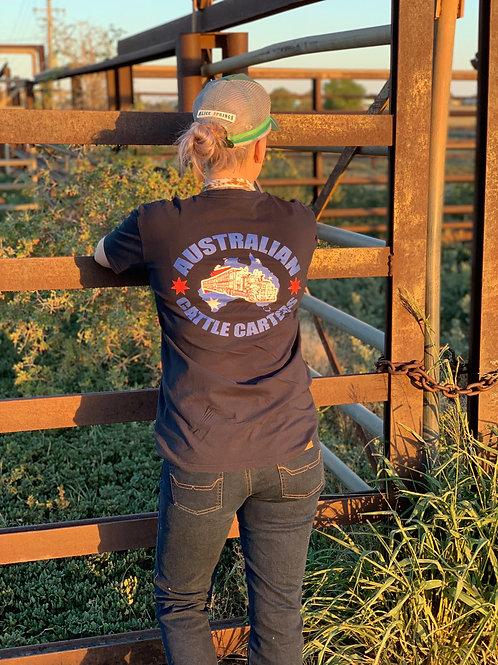Australian Cattle Carters T-Shirt - NAVY