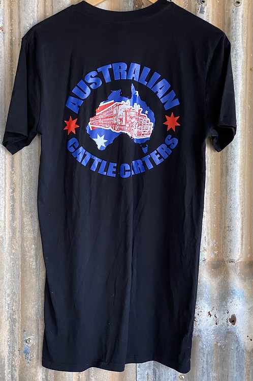 Australian Cattle Carters T-Shirt - BLACK