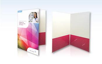 (4 x 9) Presentation Folders - 2 Sides