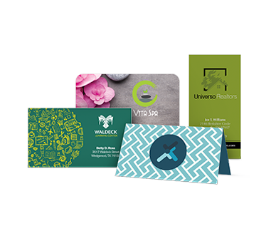 Folded Business Cards - 1 Side