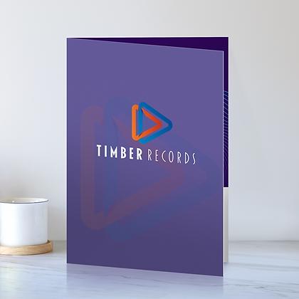 (4 x 9) Presentation Folders - 1 Side