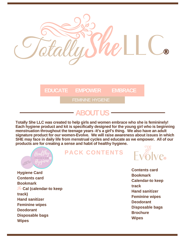 About Totally She LLC kits.png