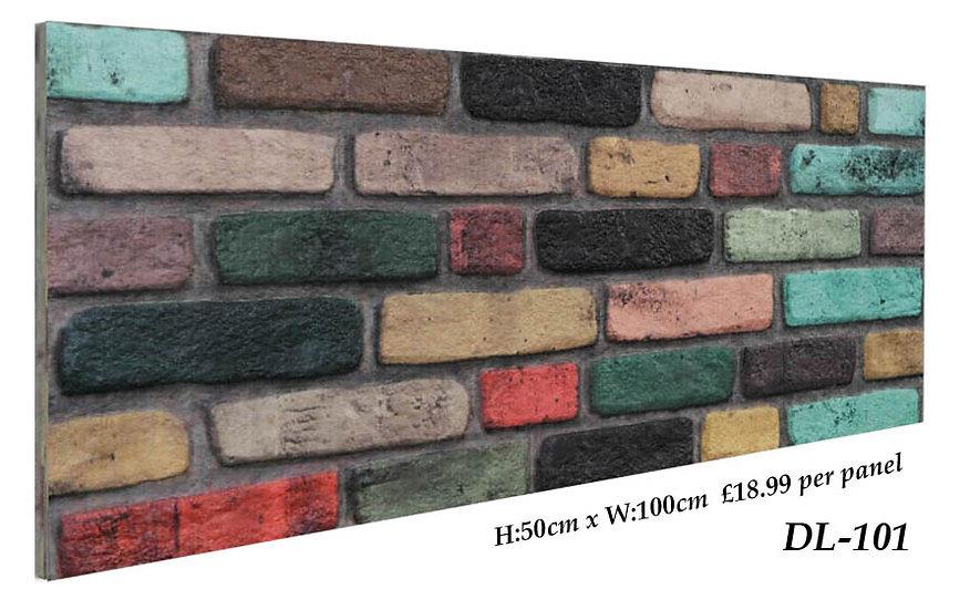 DL101 3D Brick Effect Wall Panel