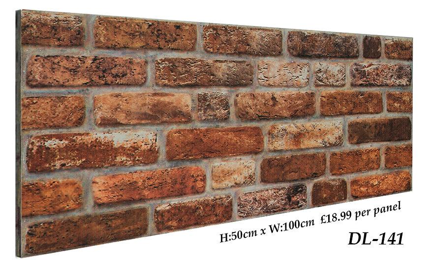 DL141 3D Brick Effect Wall Panel
