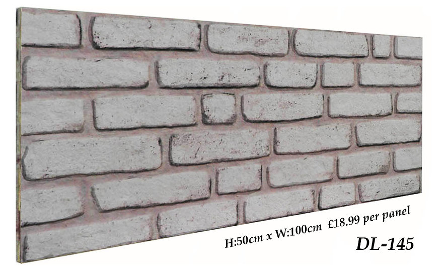 DL145 3D Brick Effect Wall Panel