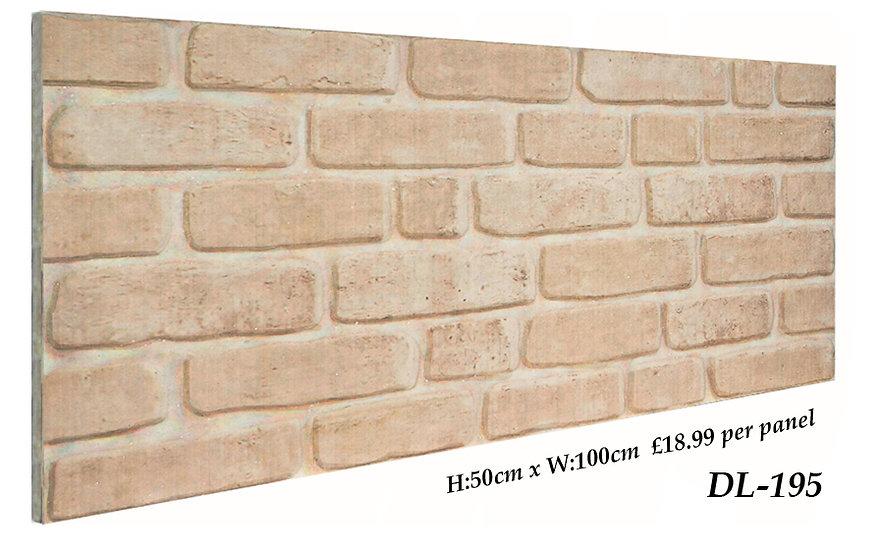 DL195 3D Brick Effect Wall Panel