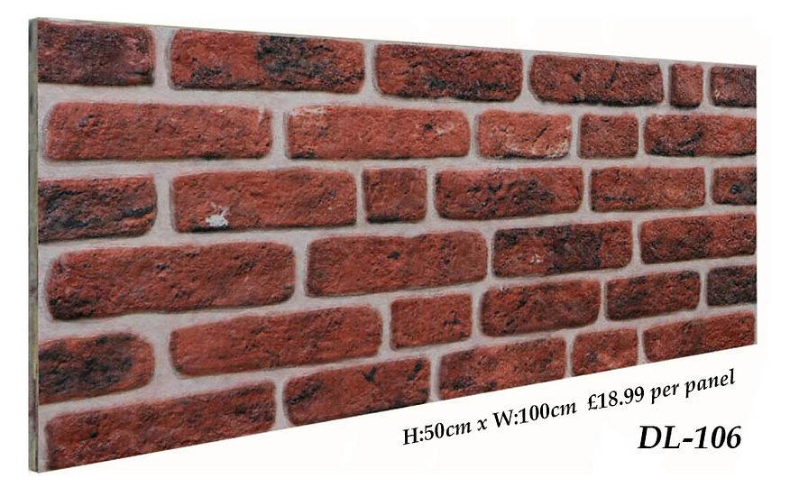 DL106 3D Brick Effect Wall Panel