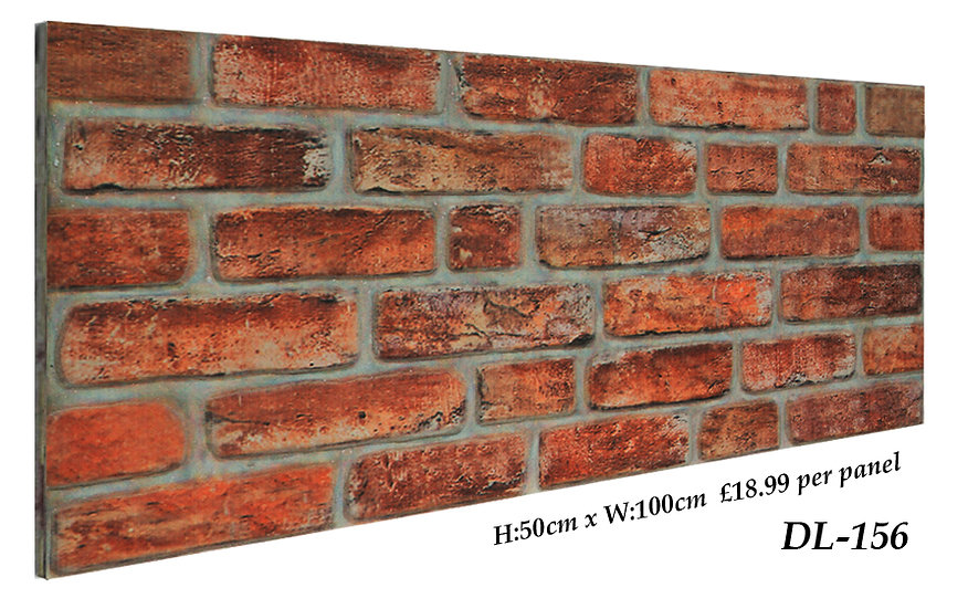DL156 3D Brick Effect Wall Panel
