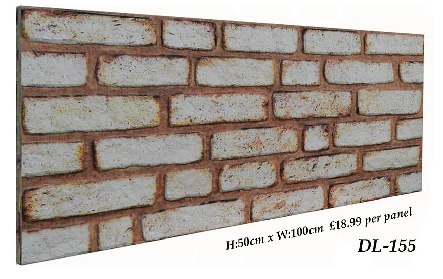 DL155 3D Brick Effect Wall Panel
