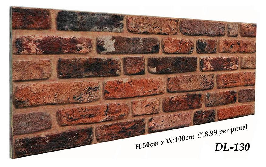 DL130 3D Brick Effect Wall Panel