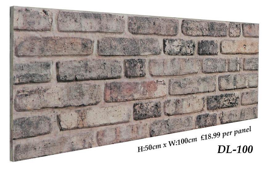 DL100 3D Brick Effect Wall Panel