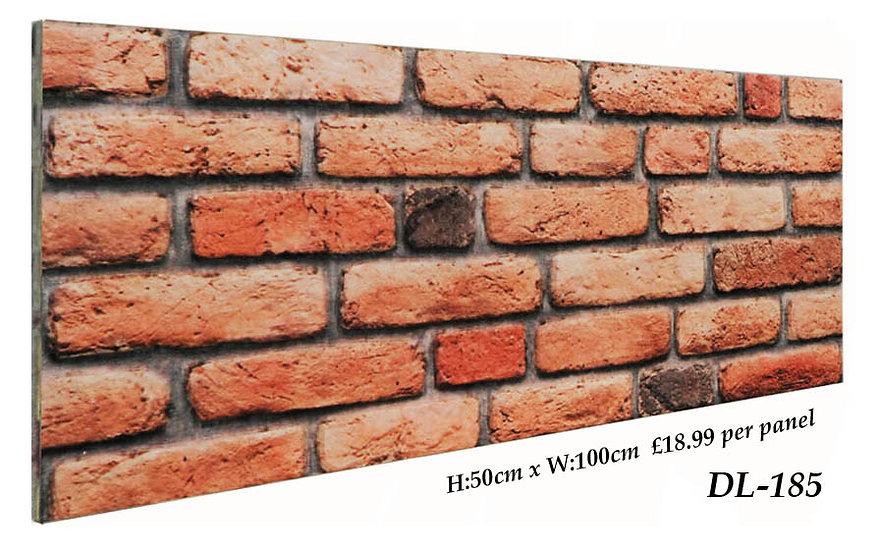 DL185 3D Brick Effect Wall Panel