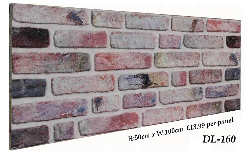 DL160 3D Brick Effect Wall Panel