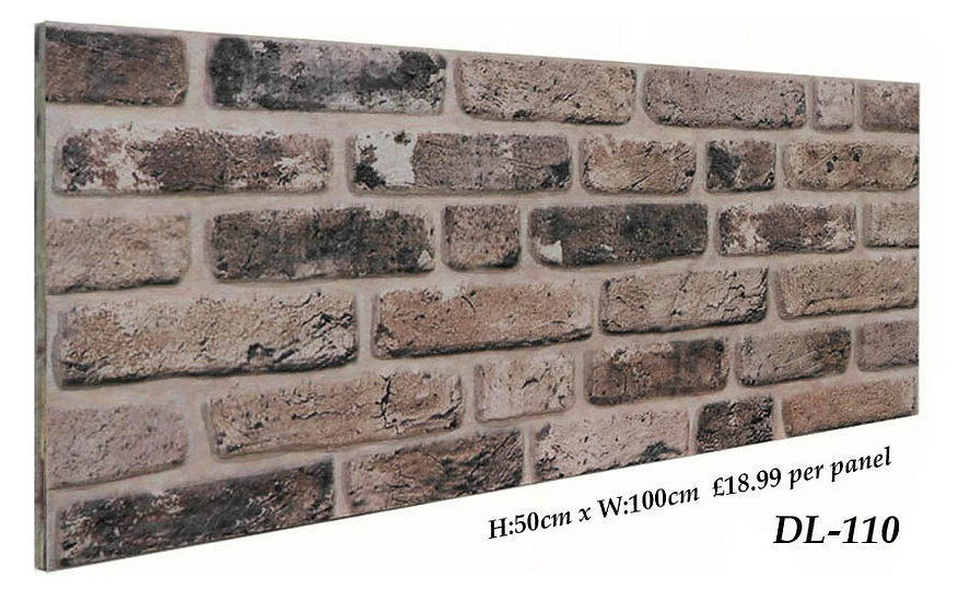 DL110 3D Brick Effect Wall Panel