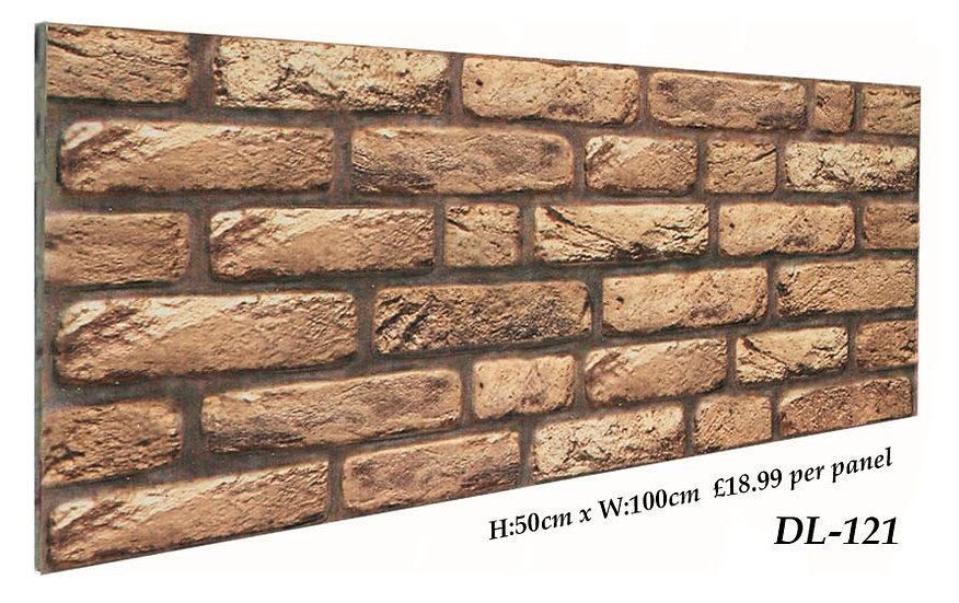 DL121 3D Brick Effect Wall Panel