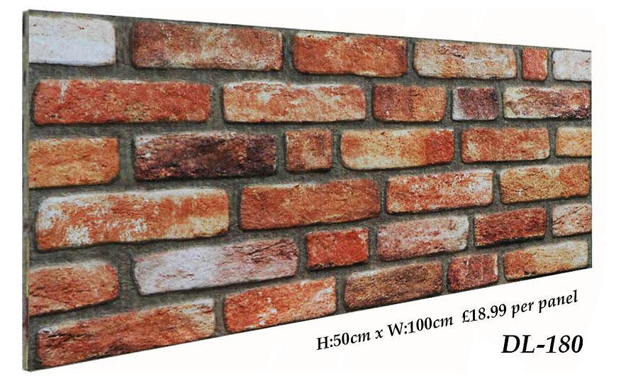 DL180 3D Brick Effect Wall Panel
