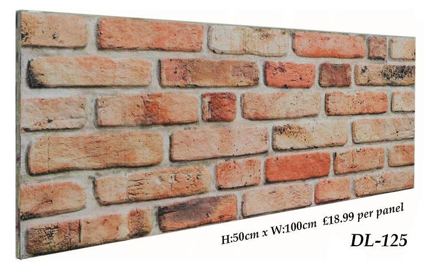 DL125 3D Brick Effect Wall Panel